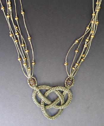 Micro Macrame Josephine Knot Necklace Tutorial